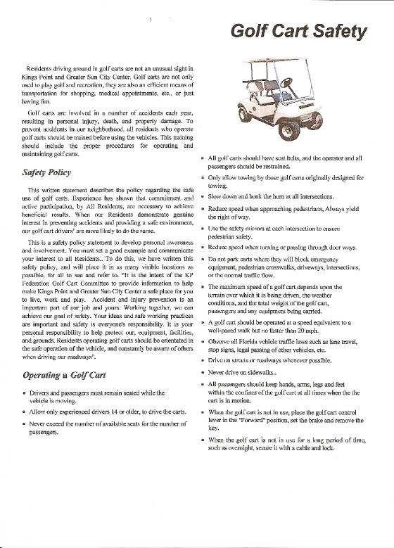 Golf Cart Safety Golf Cart Safety Policy on golf cart safety program, parking lot safety policy, golf cart safety rules, golf cart cartoons safety, golf cart safety training, loading dock safety policy, golf cart safety presentation, golf cart safety procedures, golf cart safety standards, golf carts hospital, golf cart safety tips,